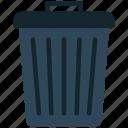 bin, trash bin icon