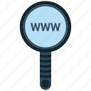 search, zoom, www, magnifying glass