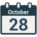 calendar, date, october, schedule, valentine icon
