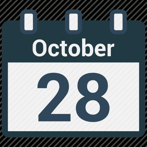 calendar, date, october, schedule, valentine icon