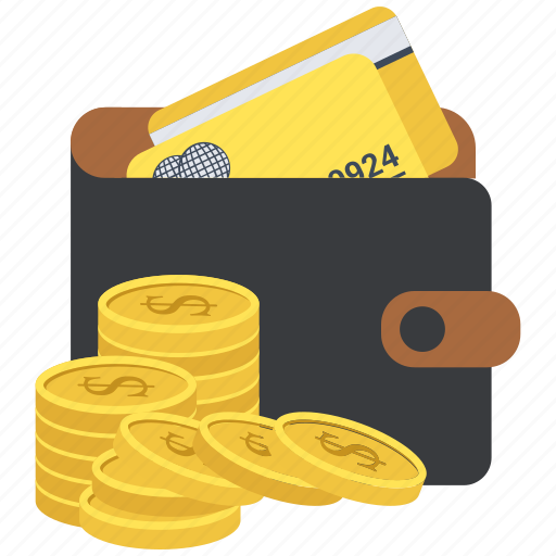atm, coin, dollar, leather, money, pocket, wallet icon