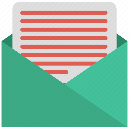 email, mail, open, outline icon