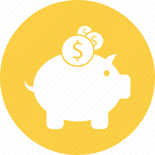 budget, piggy bank, savings icon