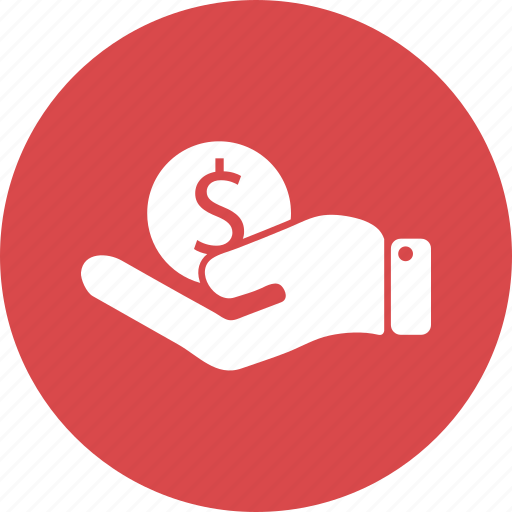 dollar, finance, hand, money, payment, shop icon