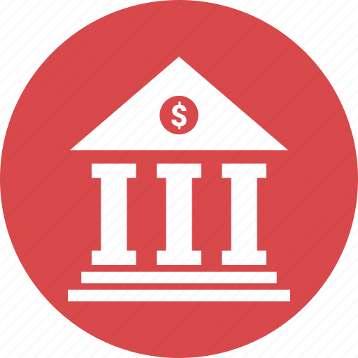 bank, building, columns building, court, real estate icon
