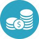 business, coins, dollar, finance, marketing, money icon