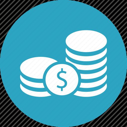 business, coins, dollar, finance, marketing, money icon
