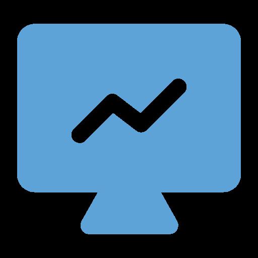 analysis, analytics, graph, lcd icon, presentation icon