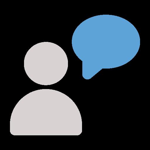 avatar, chat, talk icon icon