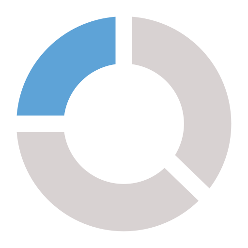 bar chart, pie chart icon