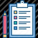 agenda, document, list, planning, schedule, sheet, task icon icon