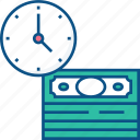 coin, concept, finance, money, payment, time, time is money icon icon icon