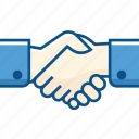 agreement, business, hand, handshake, partner, partnership icon icon