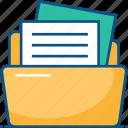 data, document, document folder, file folder, files, folder icon icon