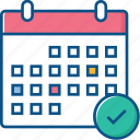 appointments, calendar, check, date, events icon icon