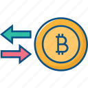 bitcoin, chain, currency, exchange, money, transfer icon icon