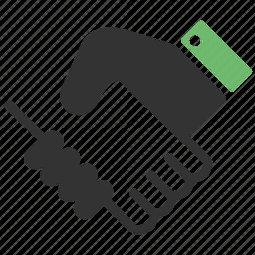 arm, hand, handshake, partnership icon