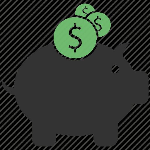 Piggy bank, savings, piggy, bank icon