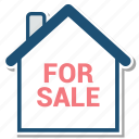 for, for sale, house, sale icon