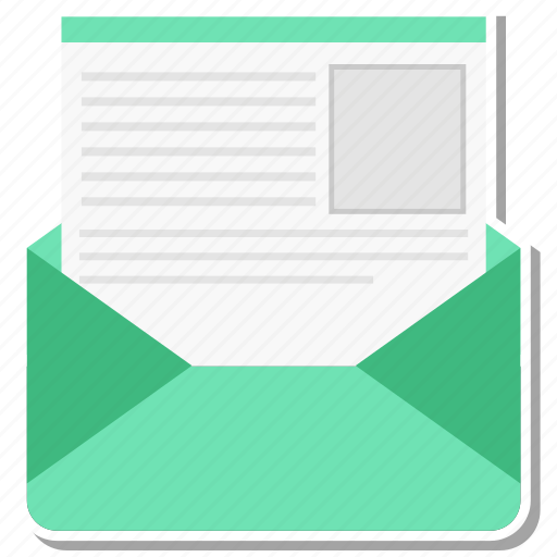 letter, mail, open, send icon