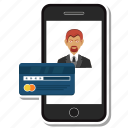 atm, card, credit, debit, man, mobile, user icon