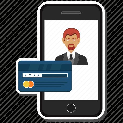 atm, card, credit, debit, man, mobile, user icon