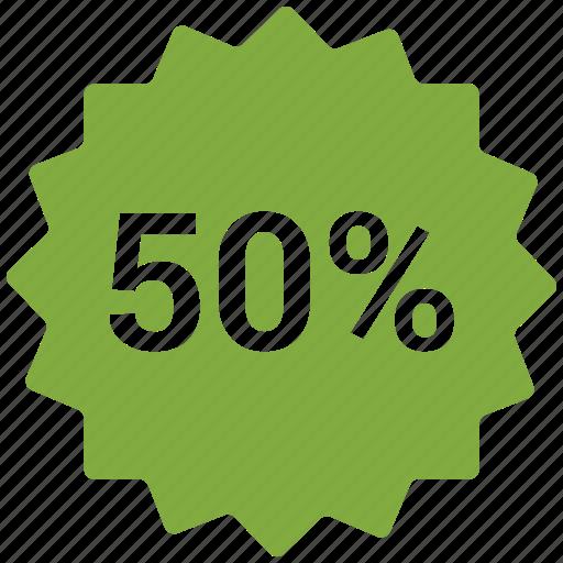 accounts, discount 50, label, promotion, sale icon