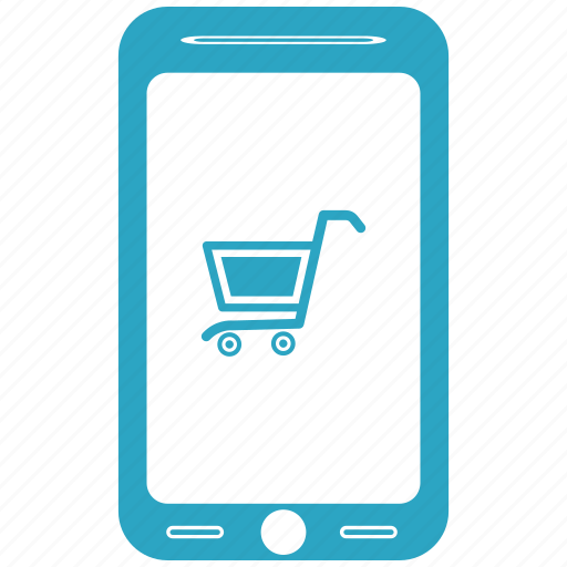 basket, mobile, online store, shop app, shoping icon