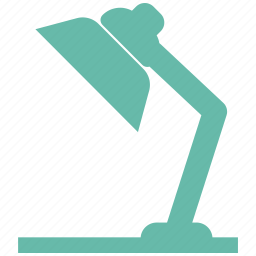 desk, lamp, light icon