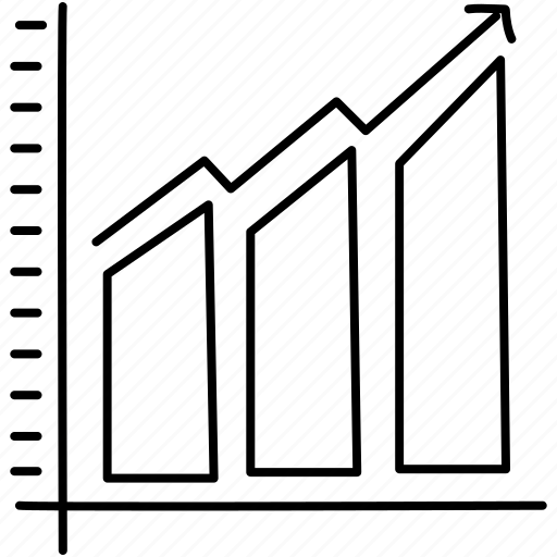 chart, growth, line icon