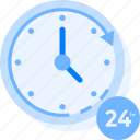 24, 24 hours, all, clock, day, hours, time, twenty four hours icon icon