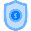 bank security, money, money protection, protection, saving, security, shield icon icon