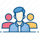 employee, group, people, staff, team, team leader, teamwork icon icon
