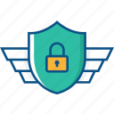 guard, lock, protection, safe, security, shield icon icon