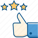 comment, feedback, ranking, rate, rating, star, thumbs up icon icon