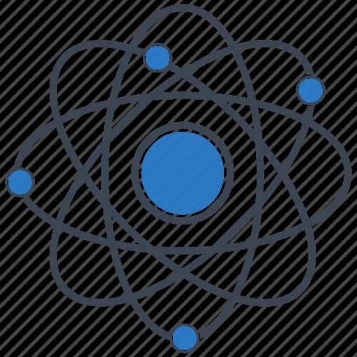 Atom, electron, nucleus, proton, science icon - Download on Iconfinder