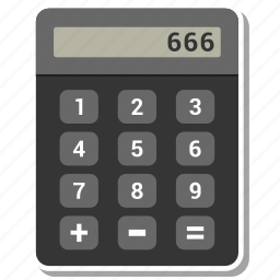 calculate, calculation, calculator, numbers icon