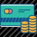 atm card, coin, credit card, debit card, dollar, smart card icon icon
