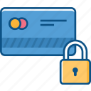 atm card security, atm pin, locked card, password protected, secure card icon icon