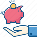 coin, currency, donation, piggy bank, savings icon icon