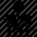 avatar, bar, growth, person, ratio icon
