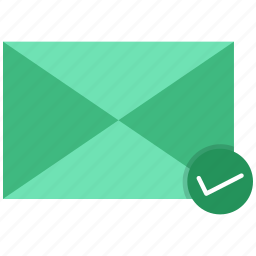 check, letter, mail, send icon