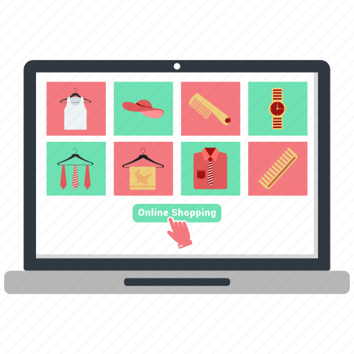 buy, discount, laptop, online, online shopping icon