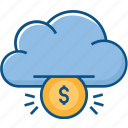 budget, cloud, finance, funding, money icon icon