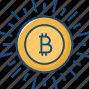 bitcoin, blockchain, coin, crypto, cryptocurrency icon icon