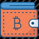 bitcoin, crypto, digital wallet, money, wallet icon icon