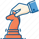 business, chess, concept, hand, people, strategy icon icon
