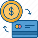 atm card icon, card, credit, exchange, money, payment, transaction icon