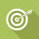 arrow, goal, success, target icon