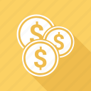 marketing, coin, dollar, finance, business icon